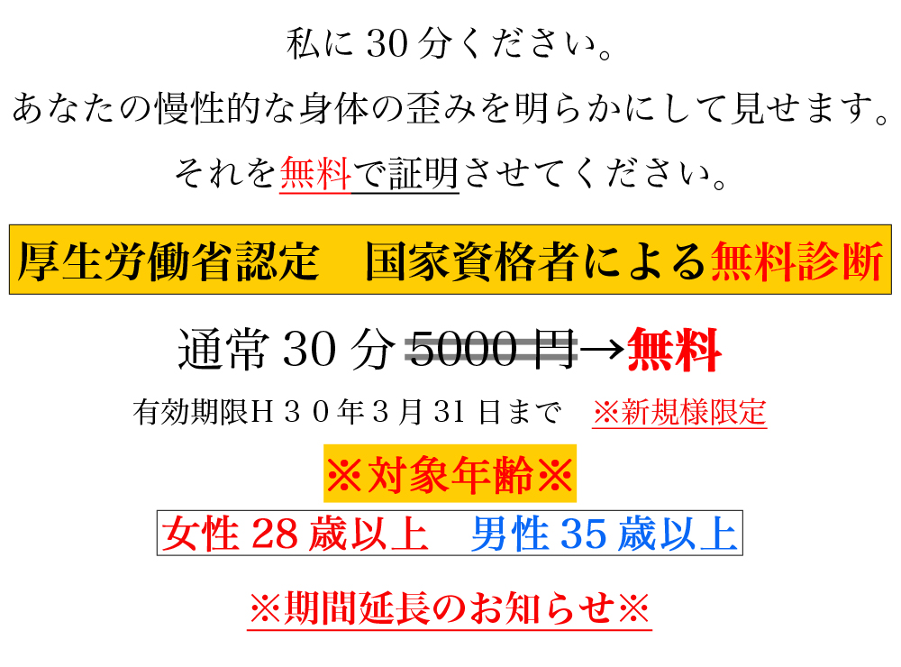 渋谷メディカルボディケア-厚生労働省認定 国家資格者による無料診断